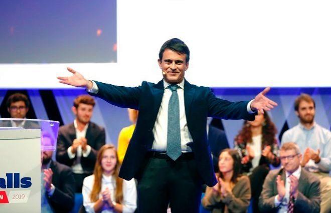 El ex primer ministro francés Manuel Valls, en uno de los actos de Ciudadanos.