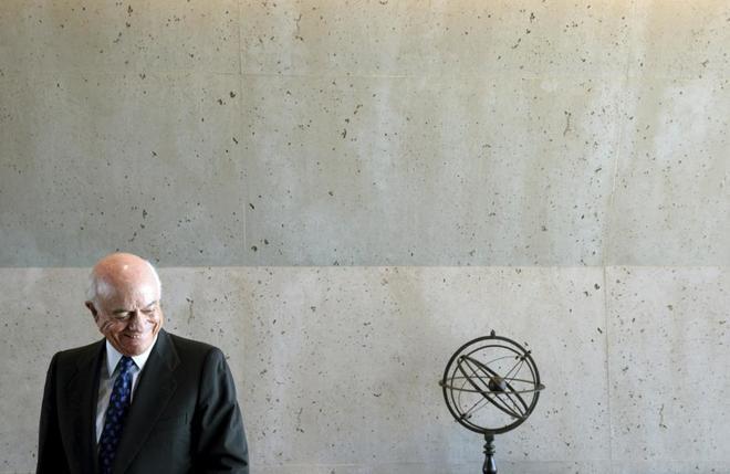 El ex presidente del BBVA, Francisco González, en una entrevista con...