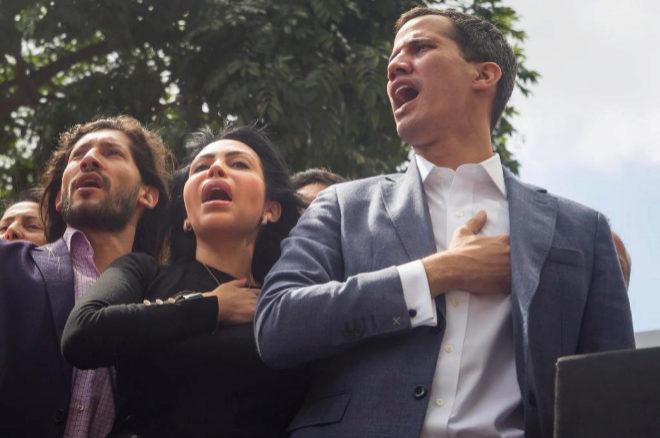 El presidente de la Asamblea Nacional de Venezuela, el opositor Juan Guaidó.