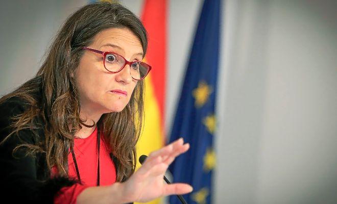 La vicepresidenta del Consell y consellera de Igualdad y Políticas Inclusivas, Mónica Oltra, ayer.