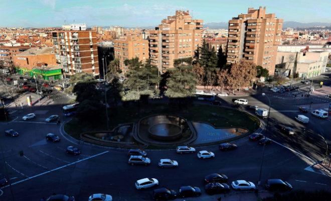 Vista general de la plaza de Fernández Ladreda, más conocida como Plaza Elíptica.