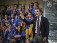 Pablo Casado, durante la presentación de los candidatos del PP al Ayuntamiento y la Comunidad Valenciana.