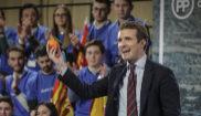 Pablo Casado, durante la presentación de los candidatos del PP al...