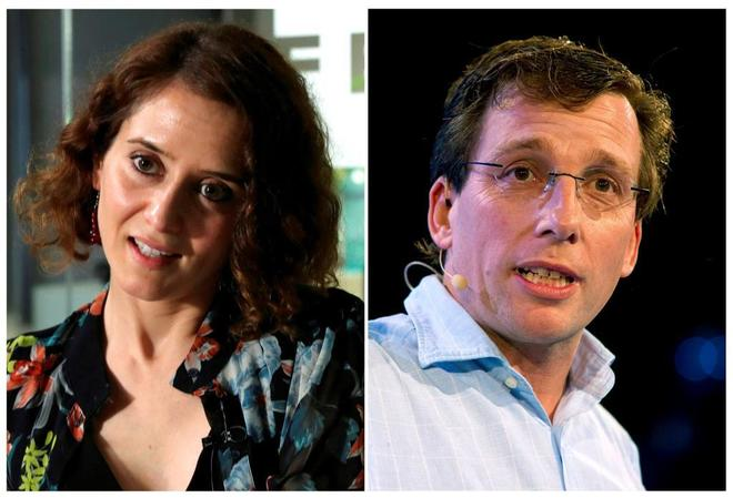 Los candidatos del PP a la Comunidad de Madrid, Isabel Díaz-Ayuso, y...