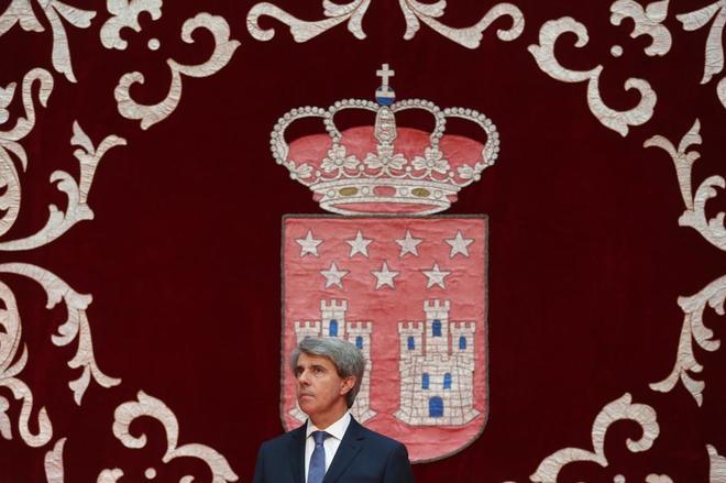 Ángel Garrido, el día de su toma de posesión como presidente de la Comunidad de Madrid.