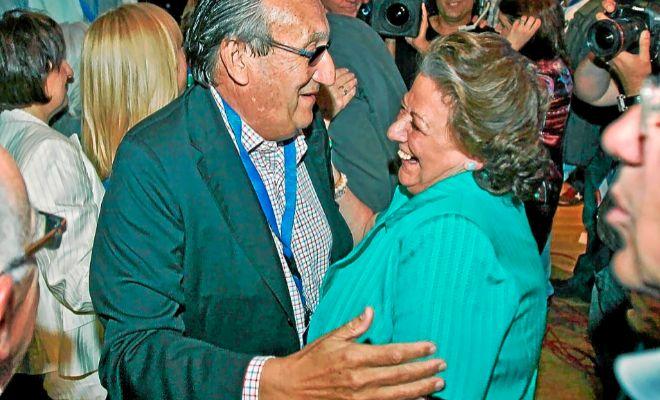 Carlos Fabra, ex presidente de la Diputación de Castellón, y Rita Barberá, ex alcaldesa de Valencia.