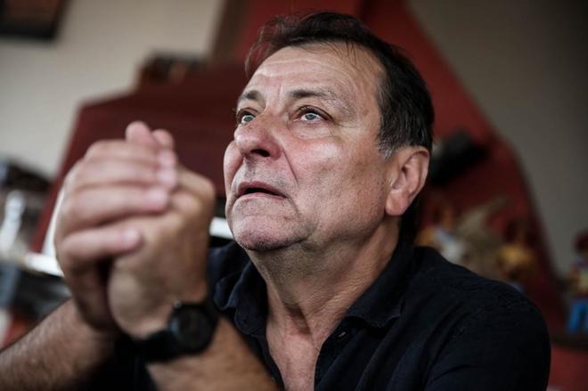 Cesare Battisti, en la ciudad de Cananeia, a 300 kilómetros de Sao Paulo (Brasil), en 2017.