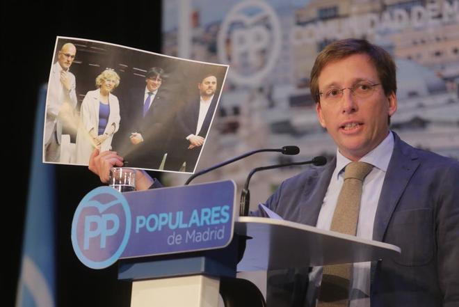 El candidato del PP a la Alcadía de Madrid, José Luis...