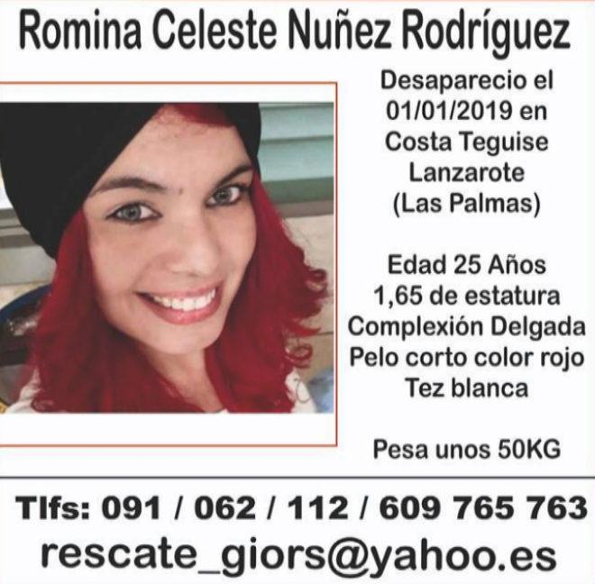 Buscan pistas para hallar a una joven que desapareció el día 1 en Lanzarote