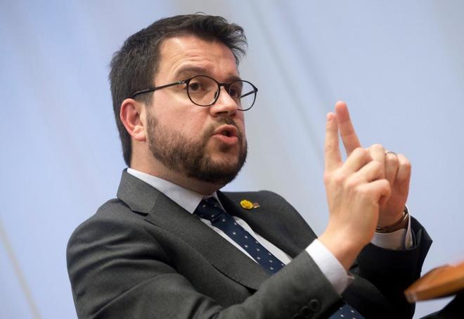 El vicepresidente del Govern, Pere Aragonès,