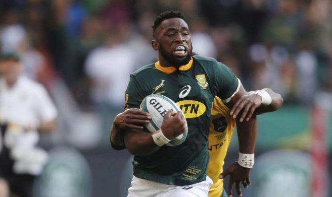 Siya Kolisi, durante un partido contra Australia el pasado septiembre en Port Elizabeth.