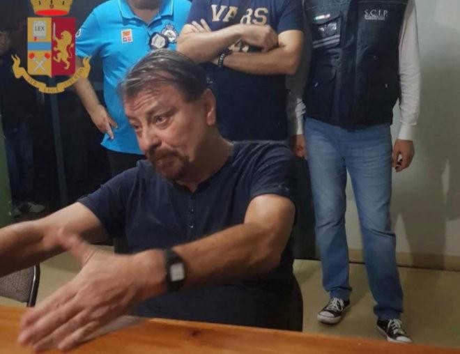 Cesare Battisti en una imagen distribuida por las autoridades italianas.
