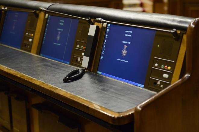 Los escaños del Gobierno en el Congreso de los Diputados.