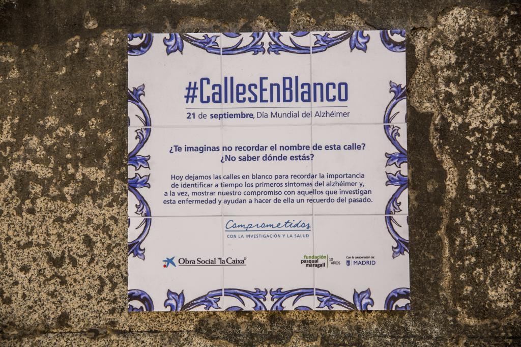 Calles en blanco, proyecto de sensibilización sobre el Alzheimer