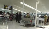 Área de control de pasajeros del aeropuerto de Barcelona-El Prat.