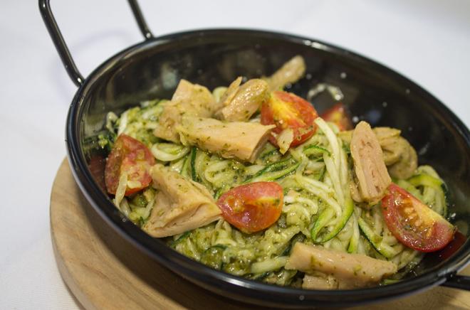 Espaguetis de calabacín de Lateral.