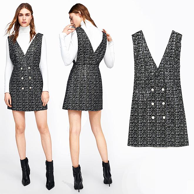 Zara tiene el vestido con el escote más versátil (que llevarás día y ... 3c763fc2ec0