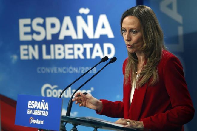 Marta González, vicesecretaria de Comunicación del PP, en rueda de prensa.