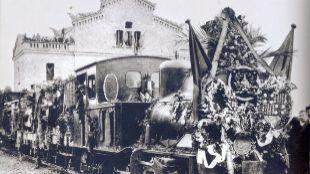 Inauguración de la línea en la estación de Igualada