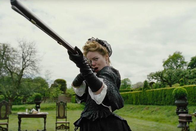 Emma Stone en 'La favorita'.