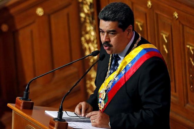 Nicolás Maduro durante la presentación del estado de la nación en Caracas, Venezuela.