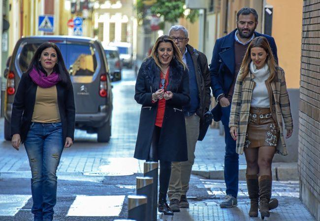 La presidenta de la Junta en funciones, Susana Díaz, a su llegada a...