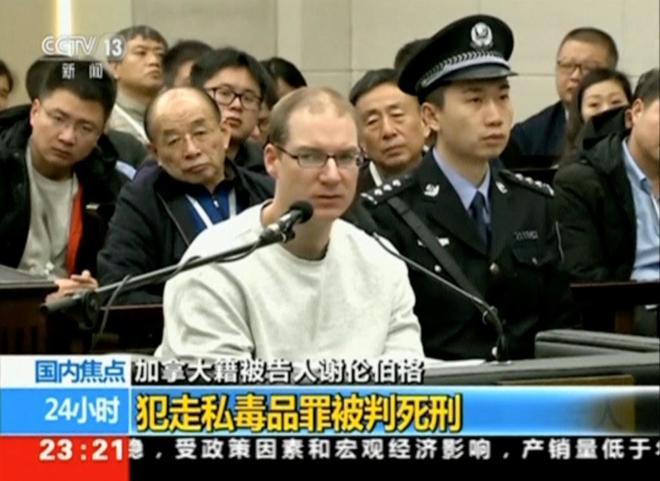 Robert Lloyd Schellenberg, en momento del juicio captado por las cámaras de televisión.