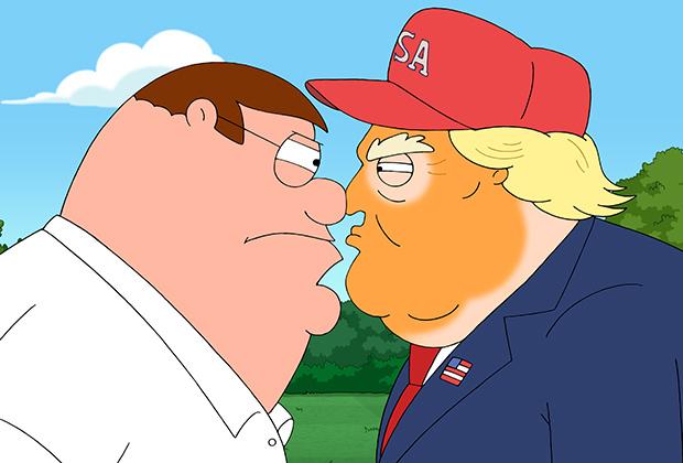 Una imagen del capítulo Trump Guy en la serie Padre de Familia