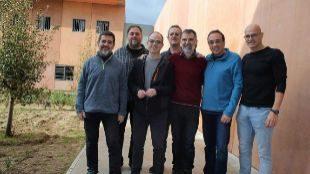 Los independentistas presos en Lledoners.