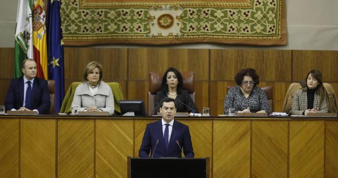 El candidato del PP a la Presidencia de la Junta de Andalucía, Juan...