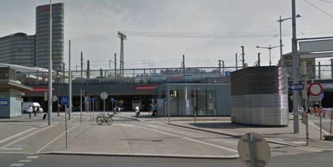 La Estación Central de Viena, lugar donde se produjo la agresión