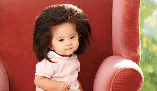 La pequeña Chanco, con su increíble melena, se ha convertido en la...