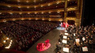 El Liceu, en la presentación de los actos del 20 aniversario de su...