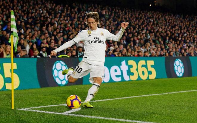Luka Modric durante el último partido del Real Madrid