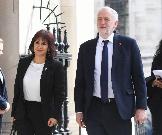 El matrimonio Corbyn en una imagen de archivo