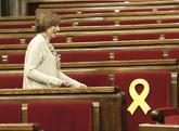 Carme Forcadell, en el Parlamento de Cataluña en marzo de 2018.
