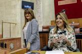 Susana Díaz, este martes en el Parlamento andaluz con la...