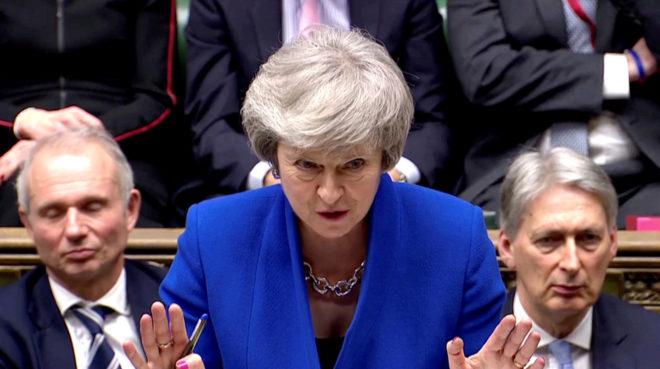Theresa May, este miércoles en el Parlamento.