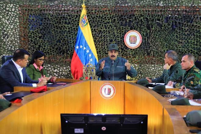 Maduro en una reunión de preparativos del Ejercicio Militar 'Soberanía 2019'.