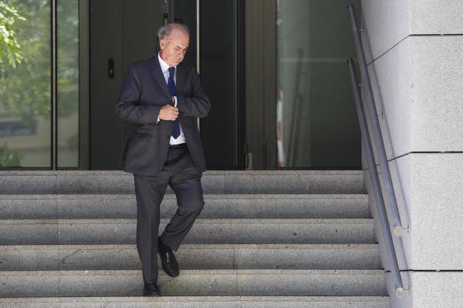 El juez del 'caso Villarejo', Manuel García-Castellón, a su salida...