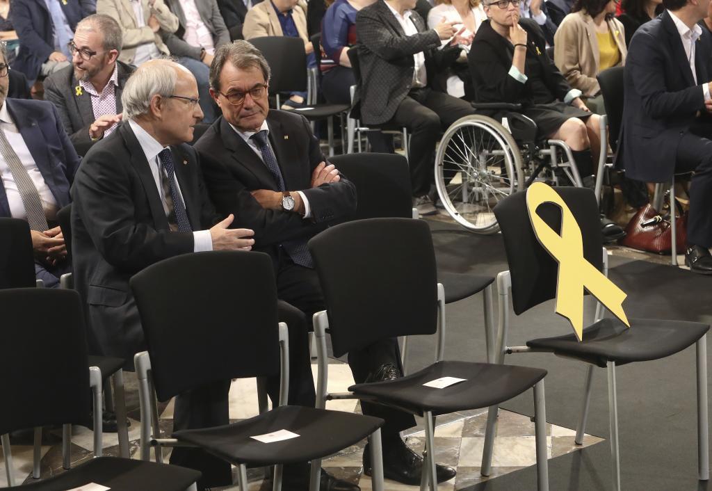 Montilla y Mas en una imagen de archivo en un acto en el Parlament.