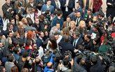 El nuevo presidente de Andalucía, Juanma Moreno, es felicitado tras...