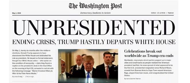 La portada falsa de 'Washington Post'.