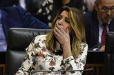 Susana Díaz, ayer miércoles, durante la sesión de investidura de...