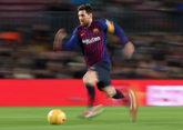 Leo Messi en un partido con el FC Barcelona