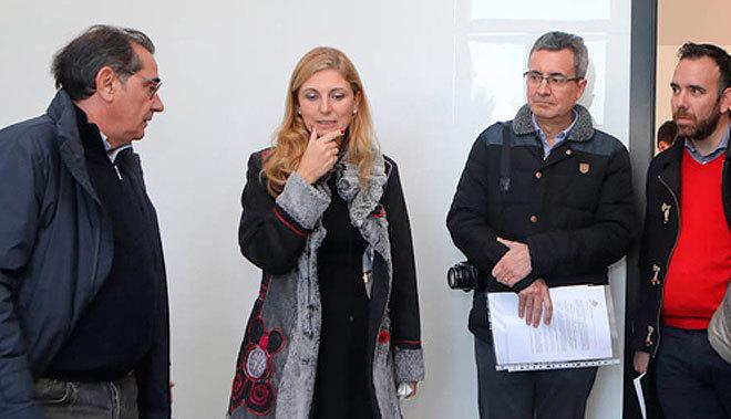 La alcaldesa de Castellón, Amparo Marco, este miércoles, durante su visita.