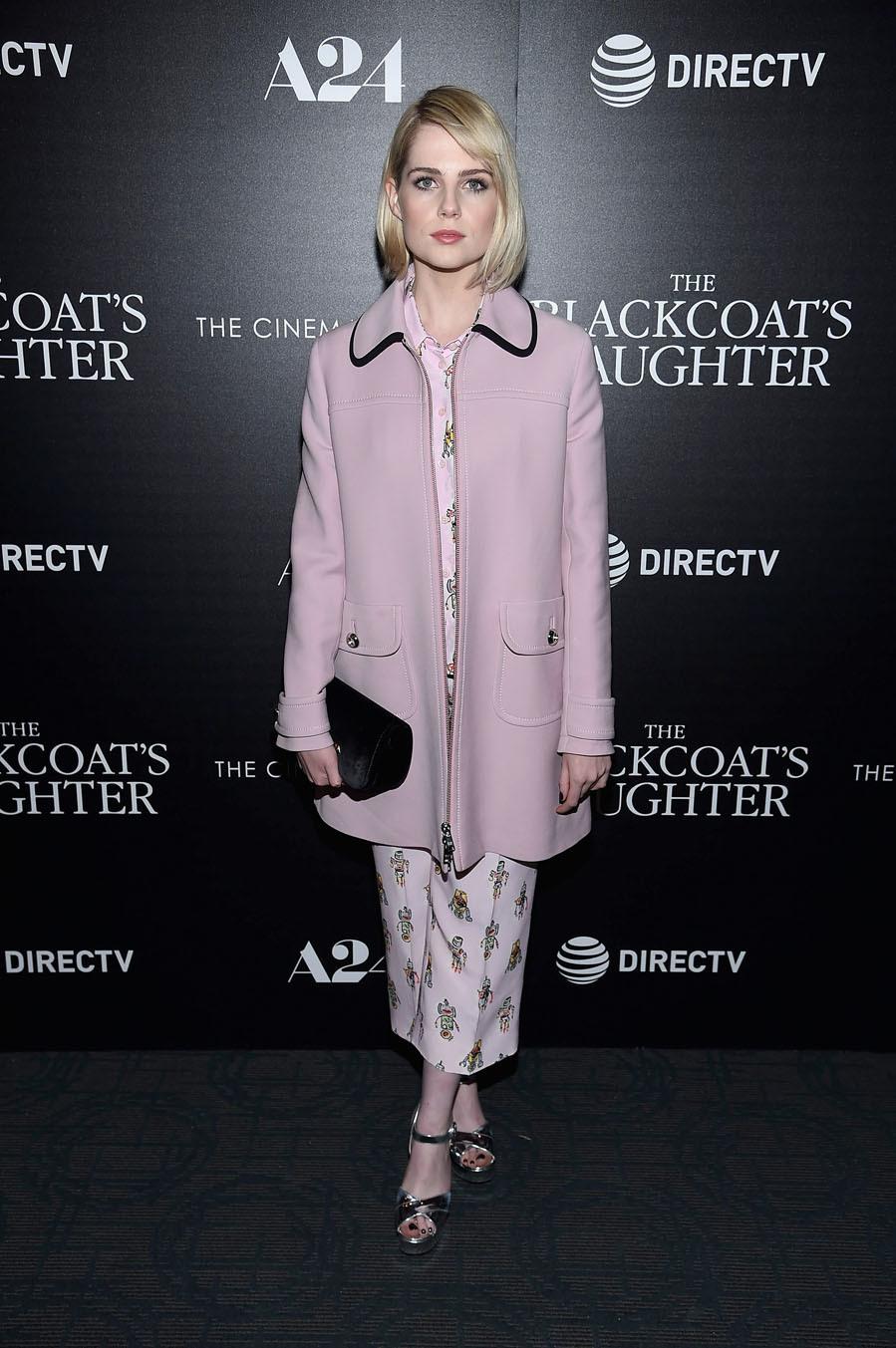 Los tonos pastel no faltan en su vestidor - El estilo de Lucy Boynton