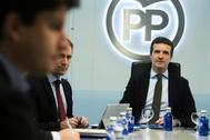Pablo Casado, en el Comité de Dirección del PP del pasado 14 de enero.