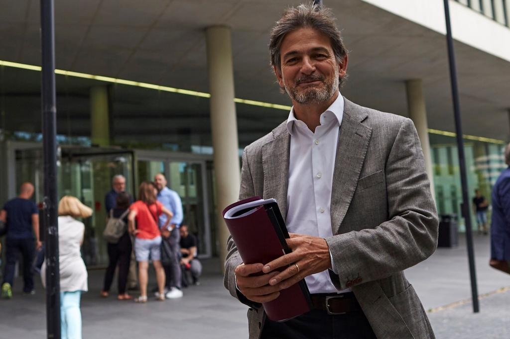 Oriol Pujol a su salida de la Ciudad de la Justicia de Barcelona hace unos meses