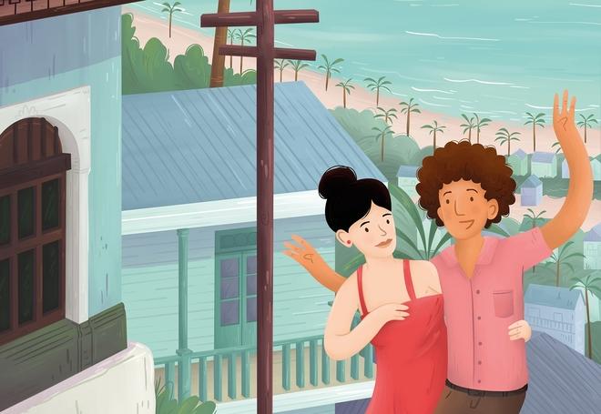 Detalle de la portada de 'Puerto Langosta' de Edo Brenes.